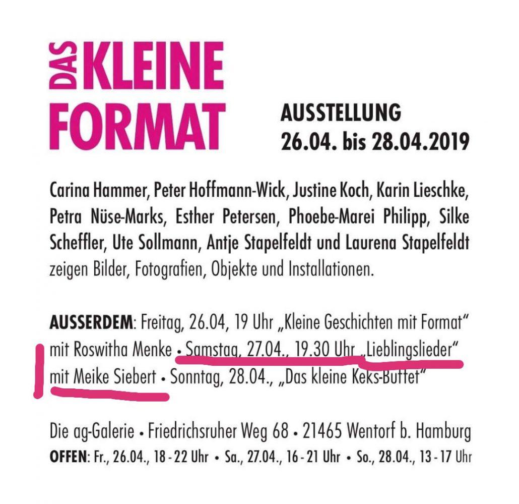 Gesang Meike Siebert, ag-galerie